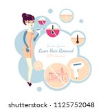laser hair removal or ipl.... | Shutterstock .eps vector #1125752048