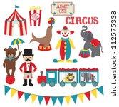 Circus Vector Clip Art Set