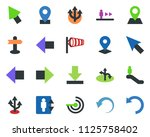 colored vector icon set  ... | Shutterstock .eps vector #1125758402