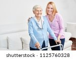 family is doing domestic care... | Shutterstock . vector #1125760328