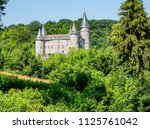 the medieval castle of v ves in ... | Shutterstock . vector #1125761042