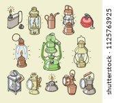 lantern vector antique light... | Shutterstock .eps vector #1125763925
