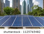 solar and modern city skyline  | Shutterstock . vector #1125765482