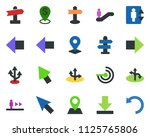 colored vector icon set  ... | Shutterstock .eps vector #1125765806