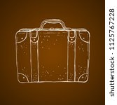 old style luggage suitcase... | Shutterstock .eps vector #1125767228