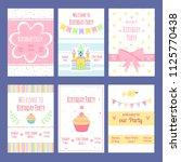 birthday invitation cards.... | Shutterstock .eps vector #1125770438