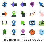 colored vector icon set  ... | Shutterstock .eps vector #1125771026