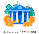 vector flat illustration  bank... | Shutterstock .eps vector #1125773348