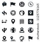 set of vector isolated black... | Shutterstock .eps vector #1125776165