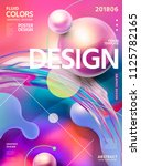 abstract fluid colors poster... | Shutterstock .eps vector #1125782165