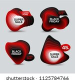 black friday sale banner with... | Shutterstock .eps vector #1125784766