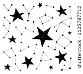 hand drawn constellations.... | Shutterstock .eps vector #1125787712