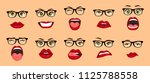 comic emotions. woman with... | Shutterstock .eps vector #1125788558