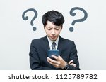 troubled young asian... | Shutterstock . vector #1125789782
