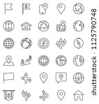 thin line vector icon set  ... | Shutterstock .eps vector #1125790748