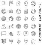 thin line vector icon set  ... | Shutterstock .eps vector #1125790748