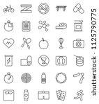 thin line vector icon set  ... | Shutterstock .eps vector #1125790775