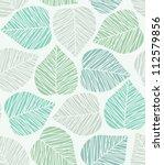 seamless stylized leaf pattern. ... | Shutterstock .eps vector #112579856