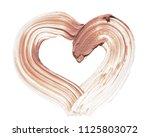 light beige makeup smear of...   Shutterstock . vector #1125803072