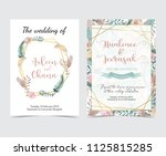wedding invitation card with... | Shutterstock .eps vector #1125815285