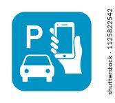 pay to park by mobile phone... | Shutterstock .eps vector #1125822542