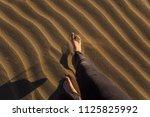 gran canaria  maspalomas dunes  ...   Shutterstock . vector #1125825992