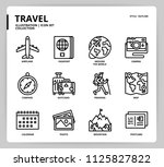 travel icon set | Shutterstock .eps vector #1125827822