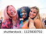 multiethnic girls covered in... | Shutterstock . vector #1125830702