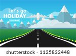 landscape view of runway in the ... | Shutterstock .eps vector #1125832448