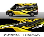 cargo van decal  truck and car... | Shutterstock .eps vector #1125840692