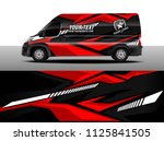 cargo van decal  truck and car... | Shutterstock .eps vector #1125841505