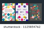 set of flyer templates with... | Shutterstock .eps vector #1125854762