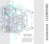 vector abstract design with... | Shutterstock .eps vector #1125855482