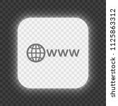symbol of internet with globe... | Shutterstock .eps vector #1125863312
