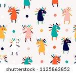 unicorn seamless pattern | Shutterstock .eps vector #1125863852