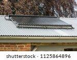 solar heating panels or...   Shutterstock . vector #1125864896