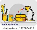 back to school  icon vector | Shutterstock .eps vector #1125866915