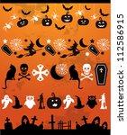 halloween line decoration | Shutterstock .eps vector #112586915