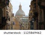 malta   valetta view to... | Shutterstock . vector #1125869462