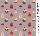 cute seamless texture with a... | Shutterstock . vector #1125872978