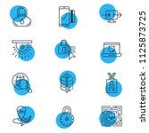 vector illustration of 12... | Shutterstock .eps vector #1125873725