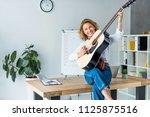 attractive businesswoman...   Shutterstock . vector #1125875516