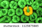 Sweet Green Peppers Background...