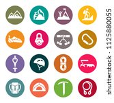 rock climbing equipment icons | Shutterstock .eps vector #1125880055