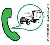 emergency car dispatcher | Shutterstock .eps vector #1125881246