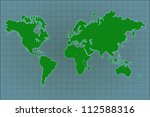 image of a colorful world map. | Shutterstock . vector #112588316