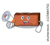 with megaphone brick character... | Shutterstock .eps vector #1125884702