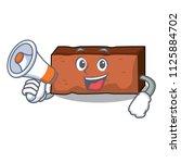 with megaphone brick character... | Shutterstock .eps vector #1125884702