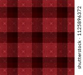 decorative tartan inspired... | Shutterstock .eps vector #1125896372