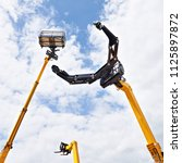 hydraulic high altitude... | Shutterstock . vector #1125897872